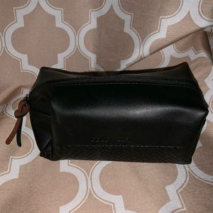Colé Haan Black Toiletry Makeup Case Bag Pouch